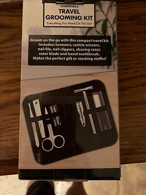 Travel Grooming Kit Razor scissors toothbrush clippers and MORE NIB
