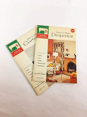 Vintage Singer Sewing Books circa 1960. Lot of 2 instruction booklets on how to