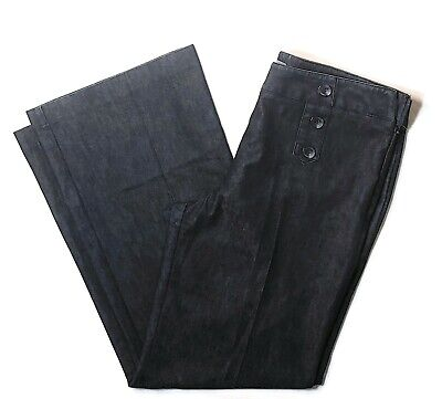 Sz 12 VINCE CAMUTO French style double button row womens pants jeans WIDE LEG