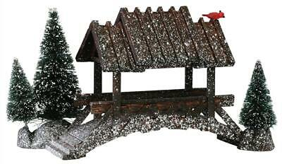 Lemax - Wooden Bridge with trees - # LAST ONE IN STOCK !