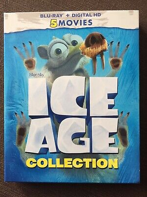 Ice Age Collection 5 Movies (Blu-ray Boxset-NO Digital Code) Slipcover
