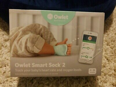 Owlet Smart Sock 2 Baby Heart Rate & Oxygen Levels Monitor (NEW/SEALED)