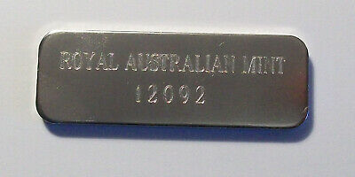 Australia 0.7oz Silver Ingot Bar ***Masterpiece Set***