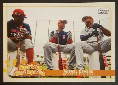 Rafael Devers 2020 Topps Opening Day Spring Has Sprung #SHS-20 Insert (Red Sox)
