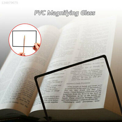 A60B Magnifying Glass Glass Lens PVC Office Archaeology Newspaper Magnifier