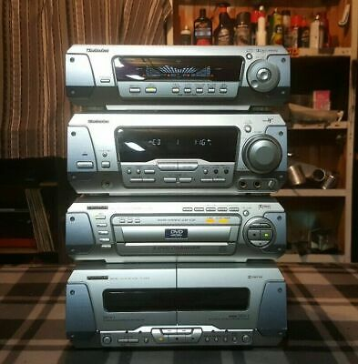 Vintage Technics 5Cd/ 4 Piece Component Stereo/Made In Japan
