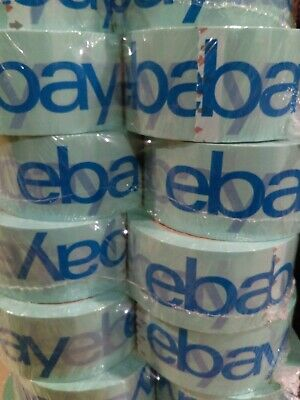 "8 Rolls of 2"" x 75 Yards Official eBay Branded Packaging Tape Light Blue"