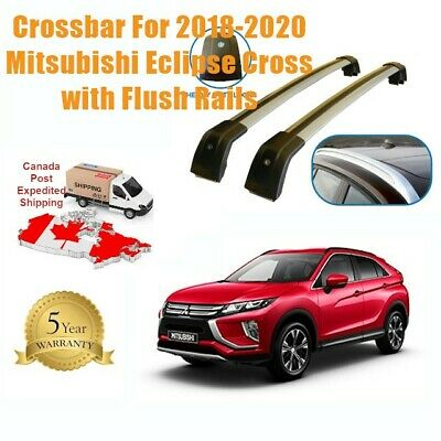 Fits Mitsubishi Eclipse Cross 2018-2020 Flush Rail Roof Rack Cross Bar Lockable