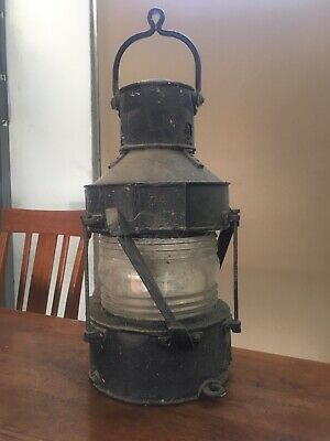Very Old And Rare Railway Lamp Mainframe Assembly