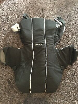 BabyBjorn - Baby Carrier Active Black/Silver - Hardly Used