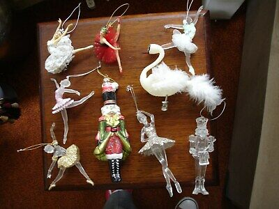 COLLECTION OF 9 x BALLET CHRISTMAS TREE ORNAMENTS