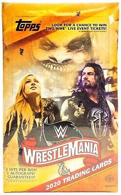 2020 Topps WWE Road to Wrestlemania Hobby Box  FREE SHIPPING!! 1 Auto Per Box!