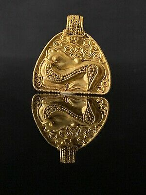 Ancient Gold ancient Viking pendant Amulet