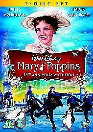 Mary Poppins DVD (2009) Julie Andrews, Stevenson (DIR) cert U 2 discs