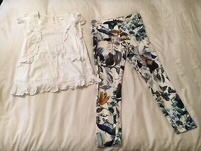 Girls Stunning Next Trousers And Blouse 10 Years (9-10)