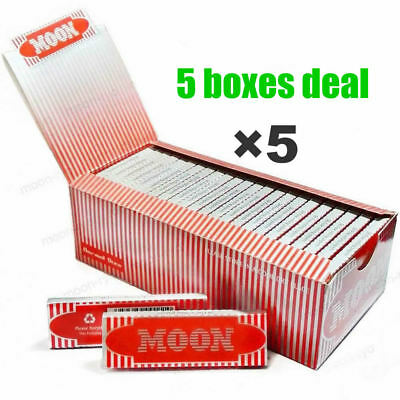 "5 boxes Moon Red 1.0"" 70*36mm Cigarette Tobacco Rolling Papers Wood Papers"