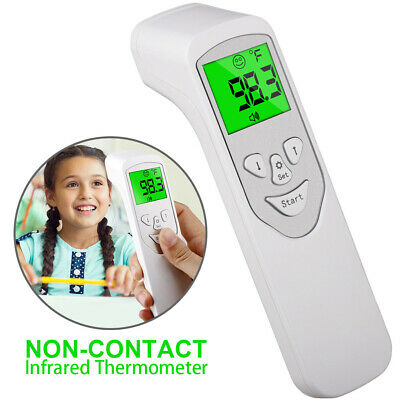 IR Infrared Digital Forehead Fever Thermometer Non-Contact Meter Baby/Adult Body