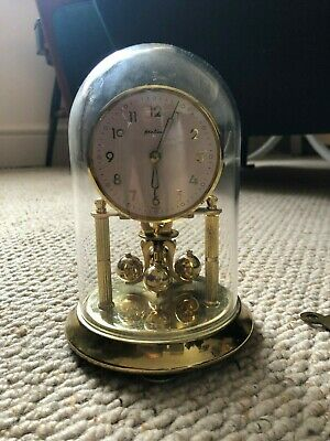 Bentima Clock Glass dome clock Brass - spares or repairs