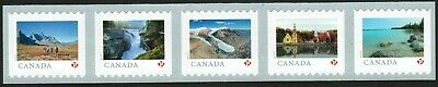 Canada sc#3143a From Far and Wide 2019, Strip of 5 from Coil of 5000, Mint-NH