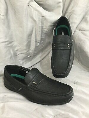 Brickers mens size 7  black faux leather loafers shoes never worn
