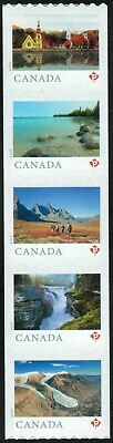 Canada sc#3148a From Far and Wide 2019, Strip of 5 from Coil of 100, Mint-NH