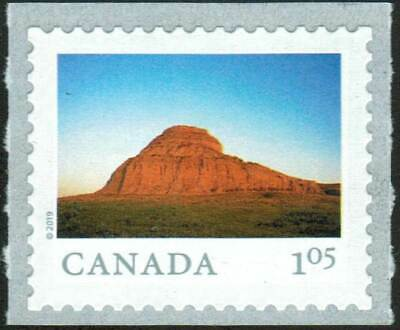 Canada sc#3149 From Far and Wide 2019: Castle Butte SK, Unit from Coil, Mint-NH