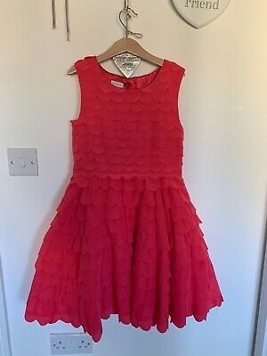 Monsoon Girls Party Wedding Dress Bright Pink Aged 10