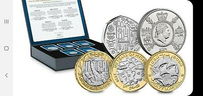 UK 2020 Commemorative Coin Set Collectors Edition Capsules inc Olympic 50p RARE