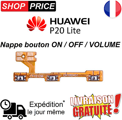 Nappe bouton power interne  ON / OFF et Volume pour HUAWEI P20 LITE.