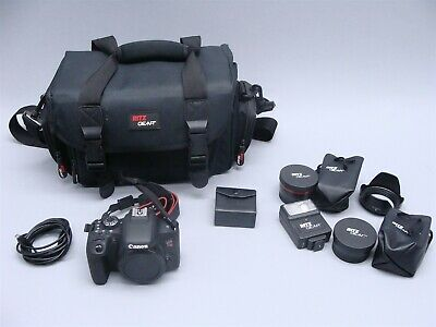 Canon EOS Rebel T7i 24.2MP DSLR Digital Camera + Extras