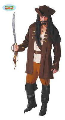 Pirate Captain Carnival Theme Party Costume for Men's Pirate Braun