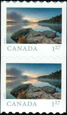 Canada sc#3150 From Far and Wide 2019: Smoke Lake ON, Pair from Coil, Mint-NH