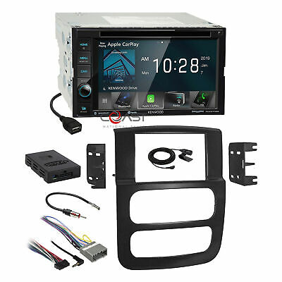Kenwood DVD BT Carplay Maestro Stereo Dash Kit Amp Harness for 02-05 Dodge Ram