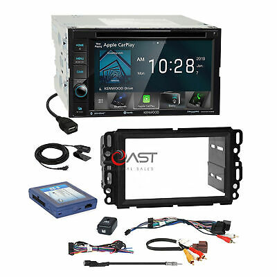 Kenwood DVD BT Sirius Carplay Stereo Dash Kit Bose Harness for GM Chevy Pontiac
