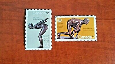 Canada 1975 #656-657 Olympic Sculptures single Mint VFNH
