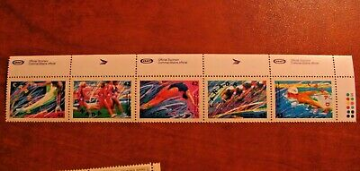 Canada 1992 #1414-1418a Summer Olympic horizontal strip of 5 Mint VFNH