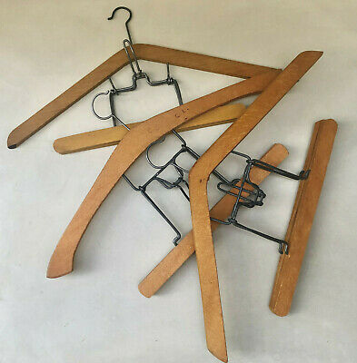 Vintage French Set Of 3 Similar Clothing Hangers For Jackets, Shirts & Trousers