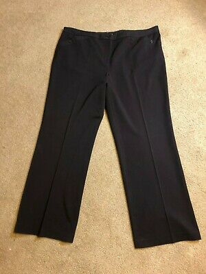 Lane Bryant 22 Tall Solid Brown Business / Dress Wide Leg Trousers Pants