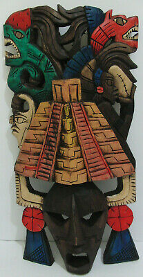 Hand Carved Wooden INCA Tribal Mask ~ Wall Decoration NEW!