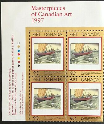 Canada 1997 #1635 Masterpieces Of Canadian Art-10- Upper Left Plate Block   Mnh