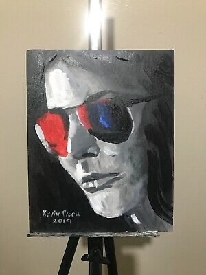 Acrylic original Art Painting 8x10 Canvas Panel By Kevin Picou
