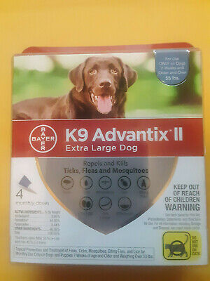 K9 Advantix II Extra Large Dog Flea Treatment 4 Month (4 Doses)