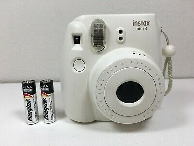 Fujifilm Instax Mini 8 Instant Film Camera - White - Tested with Battery
