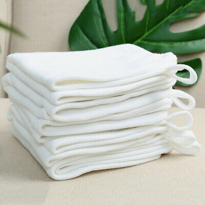 IKEA 10 x Krama White Cotton Facecloth Flannels Baby Face Wash Cloth Towel Set