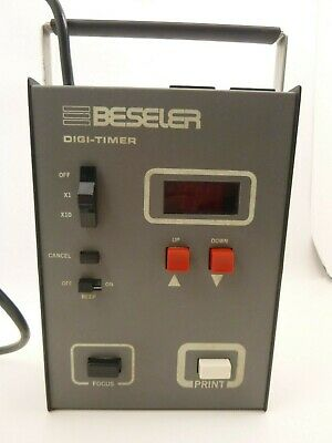 Beseler Darkroom Enlarger Digi-Timer Digital Darkroom 8187 Metal Tested Working