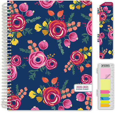 "HARDCOVER Academic Year 2020-2021 Planner 8.5""x11"" (Bloom)"