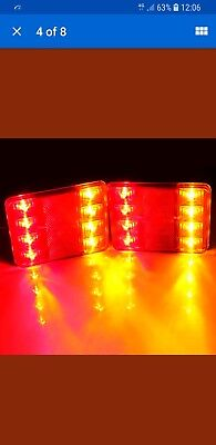 1 Pair of LED trailer lights towing light board lights BNIB