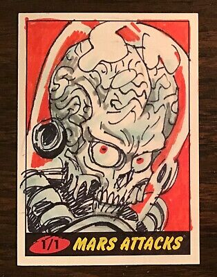 2012 Topps Heritage Mars Attacks Martian sketch card 1/1 Dan Brereton