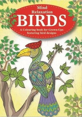 Birds Adult Colouring Book, relaxation anti stress