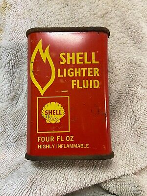 Shell Lighter Fluid Early Household Handy Vintage Oiler Tin